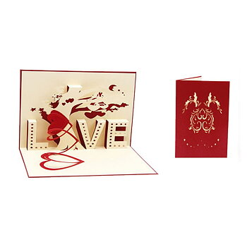 3D-kort älskar LOVE Valentine