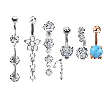 Navel Piercing 6pcs/set