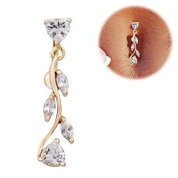 18K Guldpläterade Navelpiercing Piercing smycken