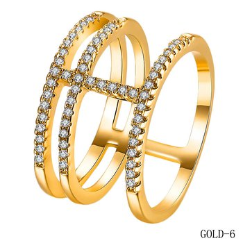 GOLD PLATED RING Cubic Zirconia