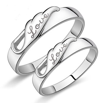 Silver Plated  RING 2 PCS