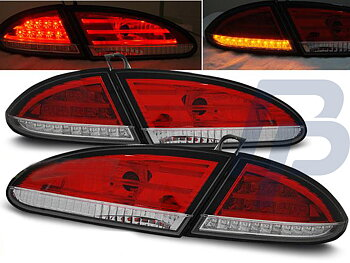 SEAT LEON 06.05-09 RED WHITE LED TAILLIGHTS