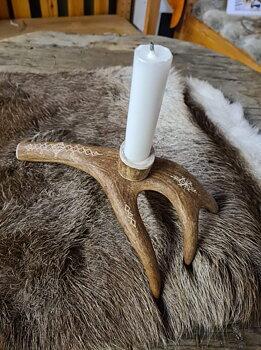 Reindeer Horn Candlestick