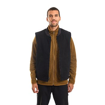 Dickies - Sherpa lined duck vest - Relaxed black