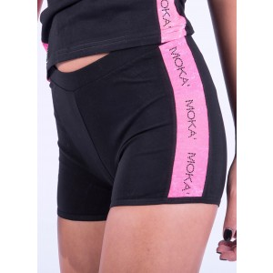 Shorts Brecia från Moka med infällning i rosa, turkos eller gult