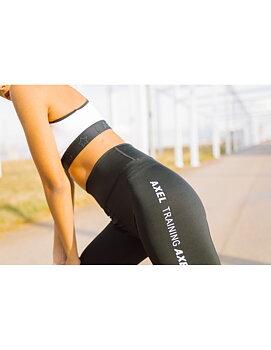 Svartvita leggings med hög midja från  Axelartistics
