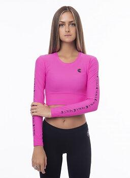 Rosa croptop Zara från Moka