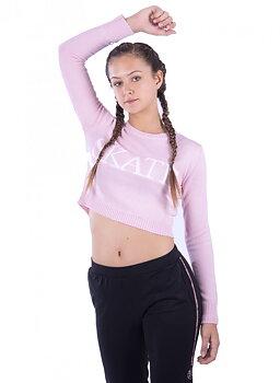 Långärmad kort rosa tröja från Moka
