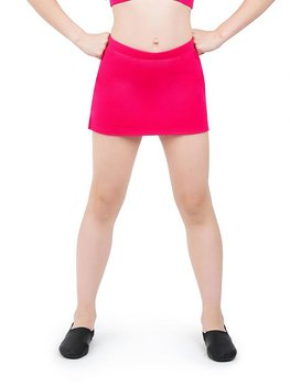 Kjol med inbyggda shorts i rosa