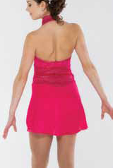 Rosa klänning med krage