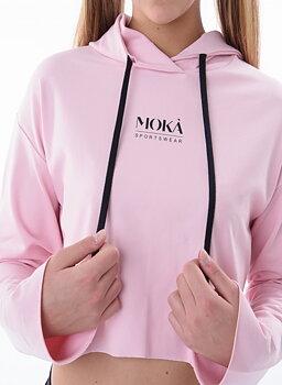Kort rosa hoodtröja Cannes från Moka