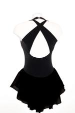 Söt sammetsklänningi svart, ljusblått eller rosa
