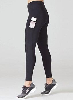 Svarta leggings i funktionsmaterial med hög midja