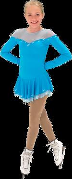 Långärmad suplexklänning i ljusblått