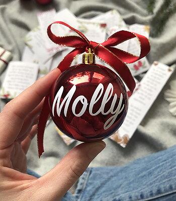 Namnsticker - till julkula