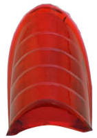 Rött Glas  Beehive 39-46, Av Plst