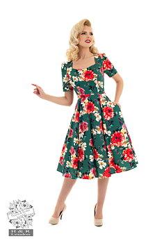 Heart & Roses - Green Pamela Dress