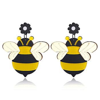 Earrings hanging bees