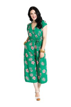 Hell Bunny -  Green Pineapple Jumpsuit