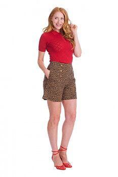 Banned Apparel - Brown Wild Child Shorts
