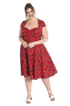 Hell Bunny - Red Alison Cherry Dress