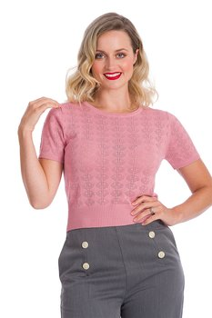 Banned Apparel - Bow Blush Knit Top