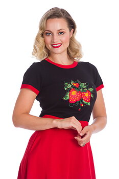 Banned Apparel - Black Strawberry Fields Top