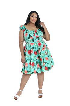 Hell Bunny - Moana Mint Dress