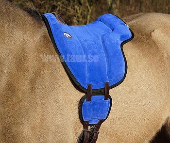 Brockamp Ridpad Barbacka i äkta mocka 'Special', blå