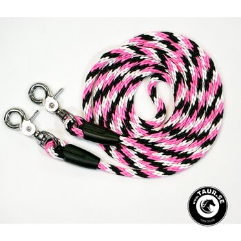 Reptyglar Opux®, 8 mm, rosa/vit/svart, 200 cm (shettis/ponny)