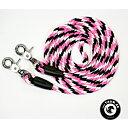 Reptyglar Opux®, 8 mm, rosa/vit/svart, 230 cm (ponny/island)