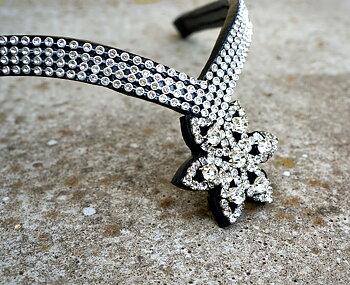 Opux® Pannband 'Tristan', svart/silver