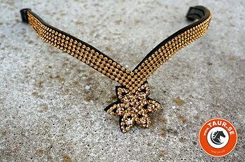 Opux® Pannband 'Tristan', svart/guld