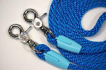 Reptyglar Opux®, 8 mm, blå/babyblue, 200 cm (shettis/ponny)