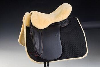 Horsedream®  fårskinnssits / rumpvärmare (engelska sadlar),  natur
