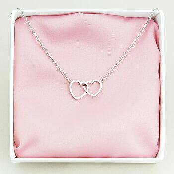 Halsband Dubbelhjärta
