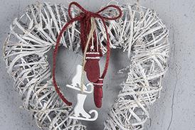 Vantar Poly Röd/Vit 4cm