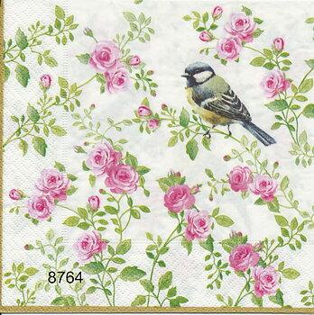 Rosor med små fåglar(olika motiv)8764