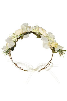 Obi Obi: Flower crown, White