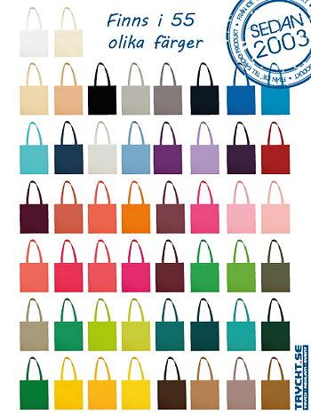 Tygkasse med långa handtag i hela 55 olika färger          FRÅN