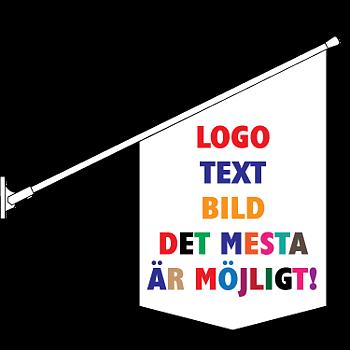 Kioskflagga spetsig med egen design