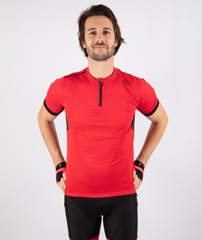 Cycling Jersey SS Perugia 2.0 Red/Black (+ big sizes)