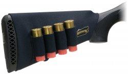 Kolvskydd för hagelgevär med patronhållare Svart