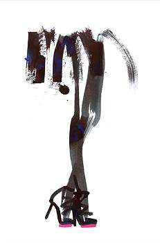 """Lovisa Burfitt """"Bluey Black Fluo"""" poster"""
