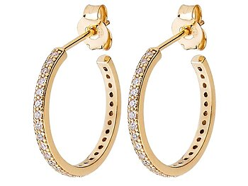 CU Jewellery by Sara Biderman Two round stone earrings gold