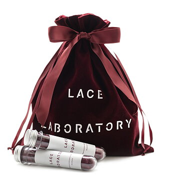 Lace Laboratory förvaringspåse vinröd