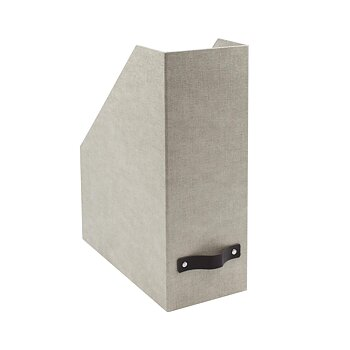 Bigso Box of Sweden Estelle magazine holder linen
