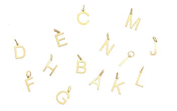 CU Jewellery Victory Letters charms gold