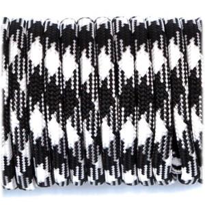 Shock Cord 3,6 mm - Black White