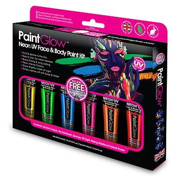 UV Neon Ansikts- och Kroppsfärg Set PaintGlow